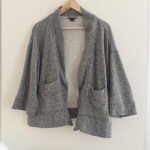 CLUB MONACO grey cropped sweater cardigan size S